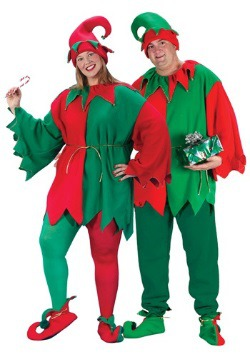 Plus Size Santa Elf Costume