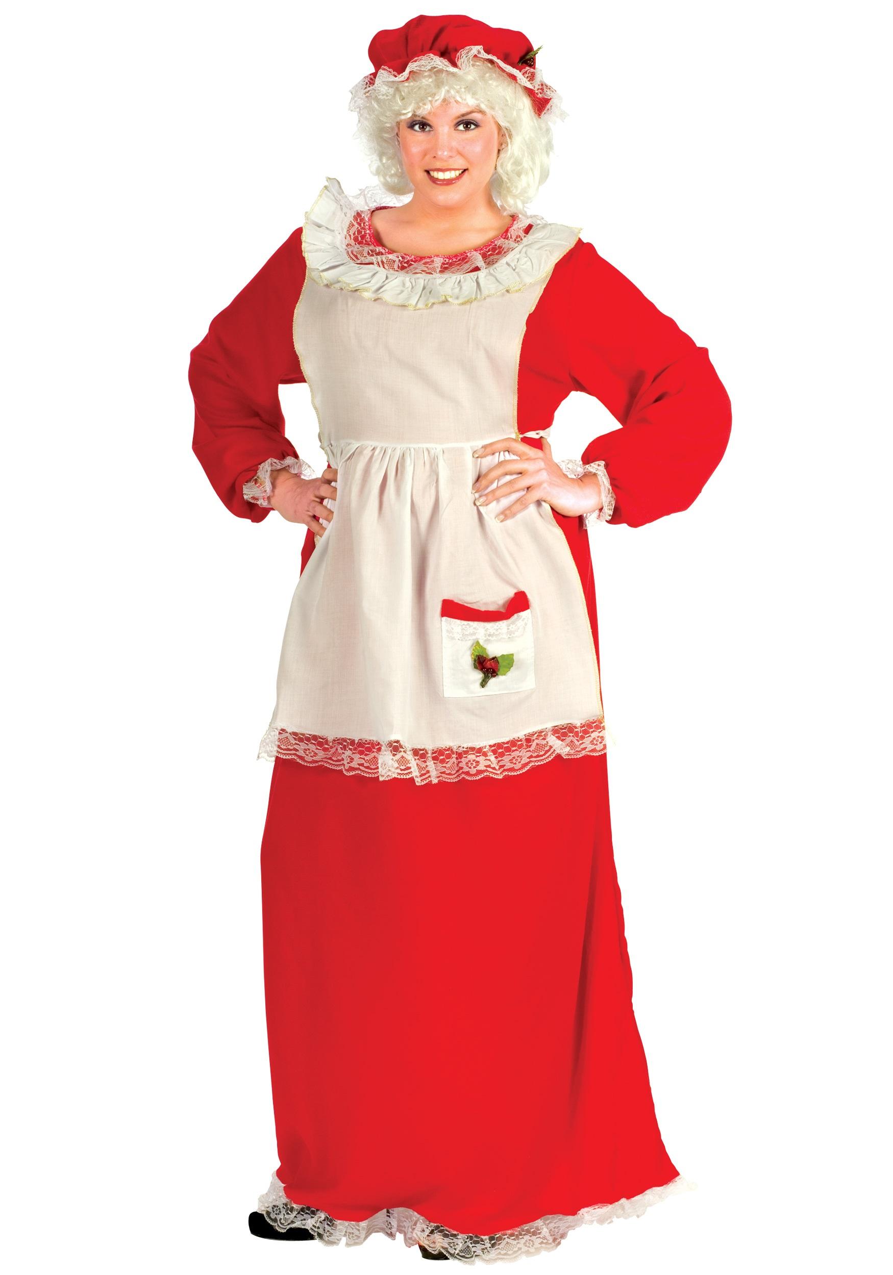 Plus size women s mrs claus costume