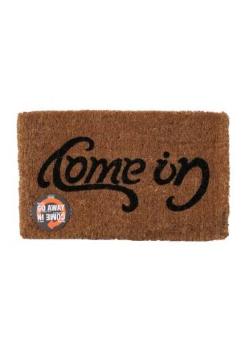 Reversible Ambigram Come In - Go Away Doormat