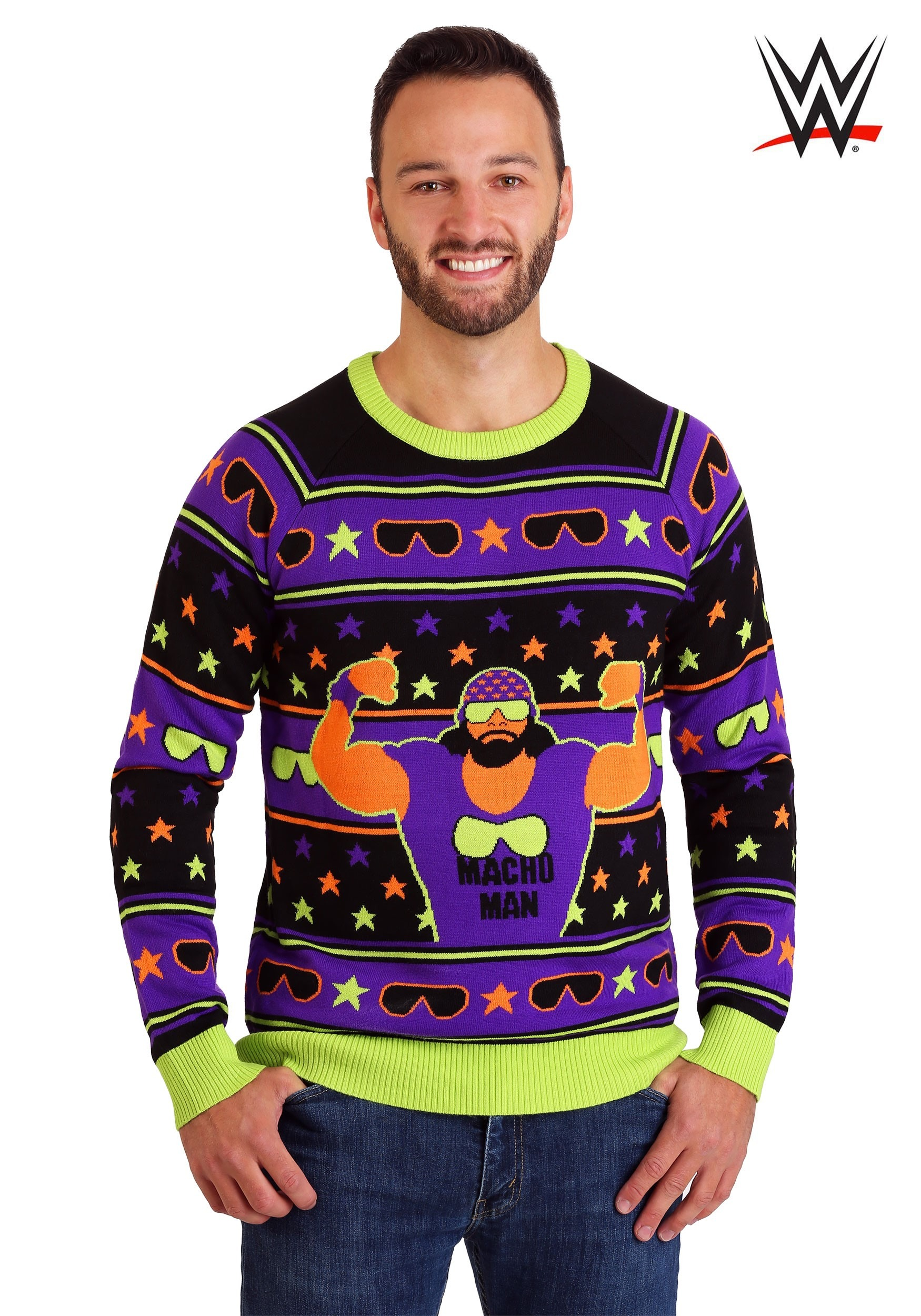 Wwe Macho Man Adult Ugly Christmas Sweater