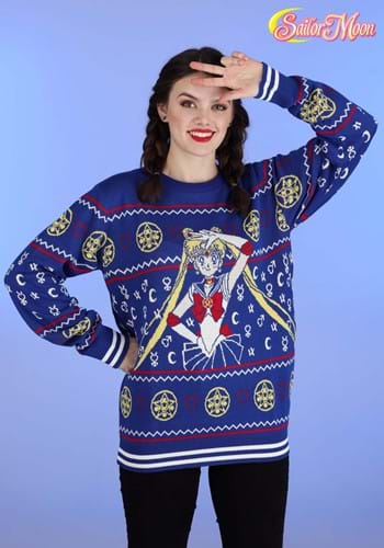 Adult Sailor Moon Fair Isle Ugly Christmas Sweater
