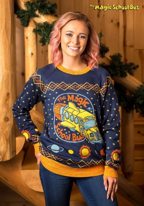 Adult Magic School Bus Ugly Christmas Sweater update1
