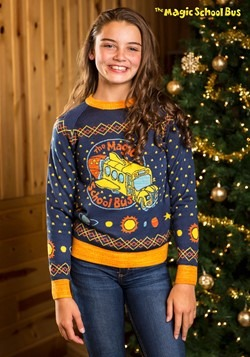 child magic school bus ugly christmas sweater update1 - Unique Ugly Christmas Sweaters