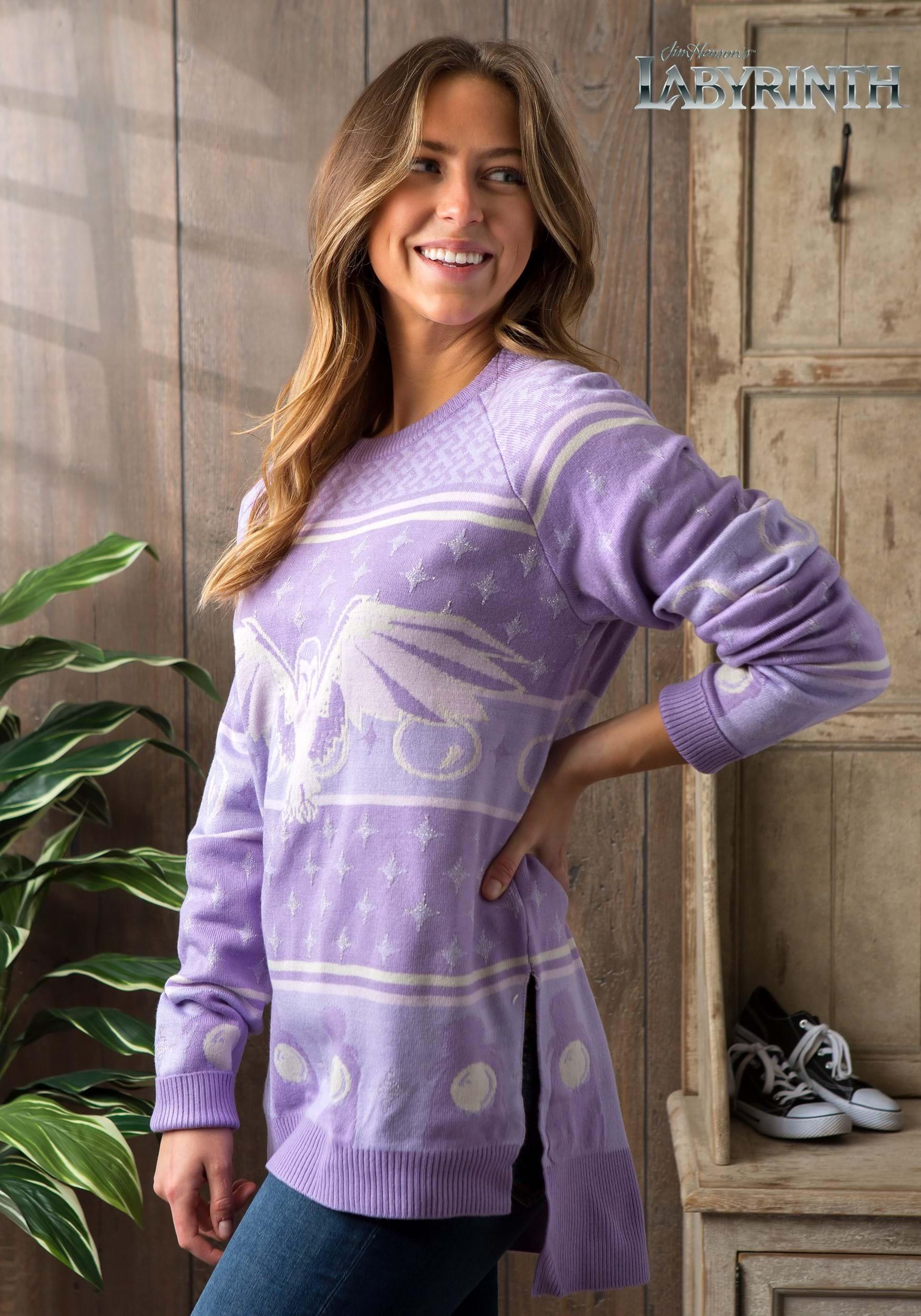 Hi-Lo Labyrinth Owl Ugly Womens Christmas Sweater-3462