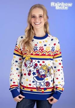 Adult Classic Rainbow Brite Ugly Christmas Sweater Update Ma