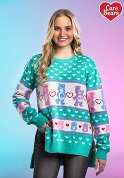 Women's Hi-Lo Care Bears Ugly Christmas Sweater Upd 2