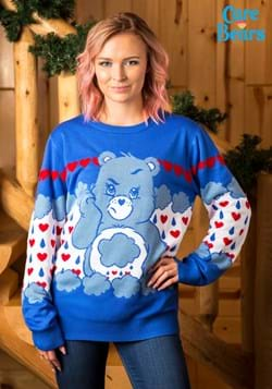 Grumpy Bear Care Bears Ugly Christmas Sweater Alt 4