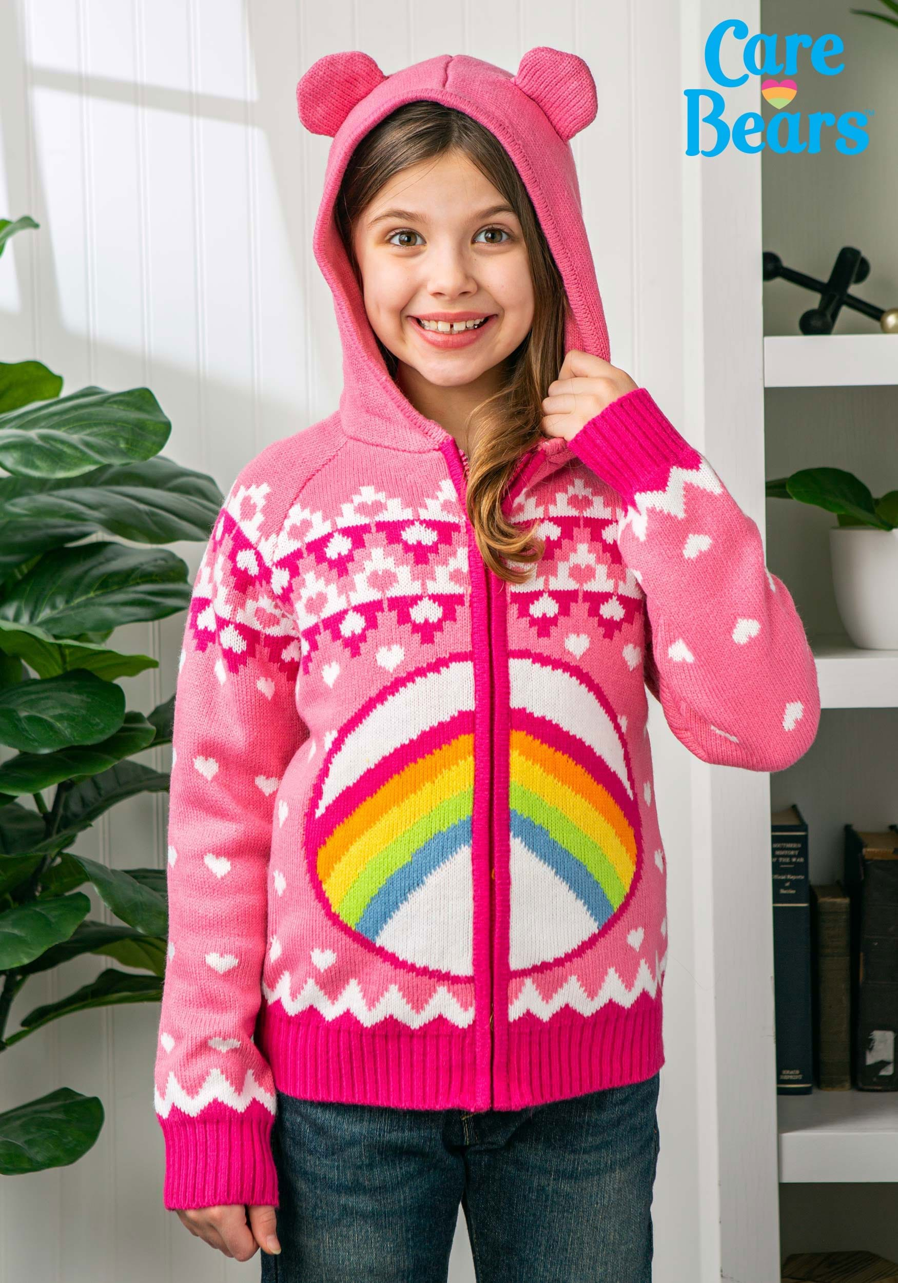 $19.99 (reg $45) Child Cheer Bear Care Bears Zip Up Knit Sweater