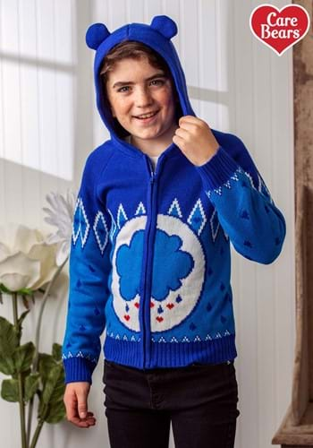 Child Grumpy Bear Care Bears Zip Up Knit Sweater update-1