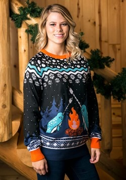 Adult Narwhal Ugly Christmas Sweater alt1