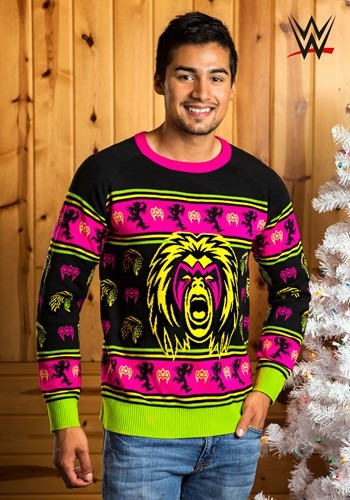 Adult WWE Ultimate Warrior Ugly Christmas Sweater