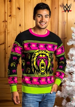 Adult WWE Ultimate Warrior Ugly Christmas Sweater
