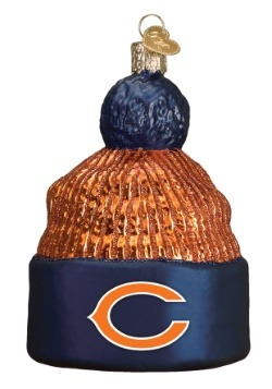 Chicago Bears Beanie Glass Ornament