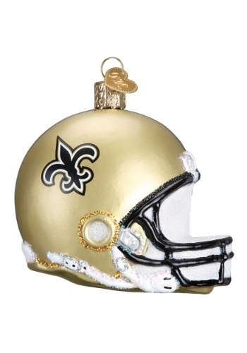 New Orleans Helmet Glass Ornament