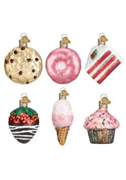 6 Piece Miniature Dessert Glass Ornament Set