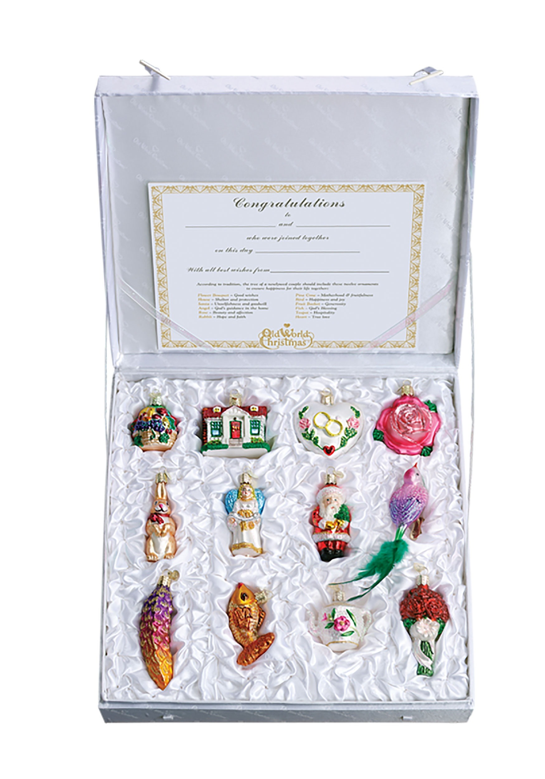 12 piece brides tree ornament collection