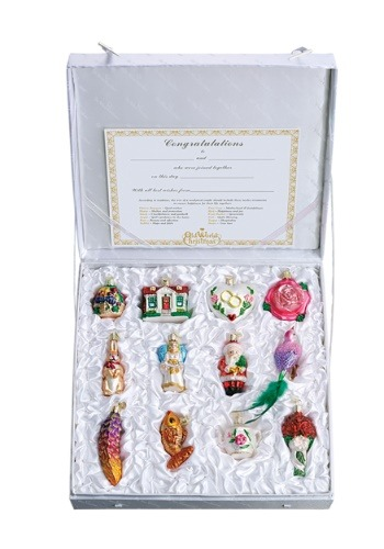 12 Piece Bride's Tree Ornament Collection
