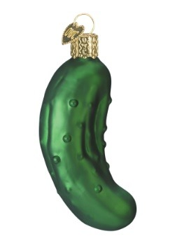 "3"" Pickle Glass Ornament"