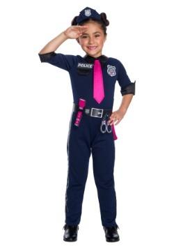 Girls Barbie Police Officer Costume