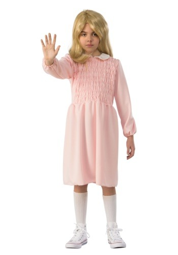Eleven Child Stranger Things Long Sleeve Dress Costume