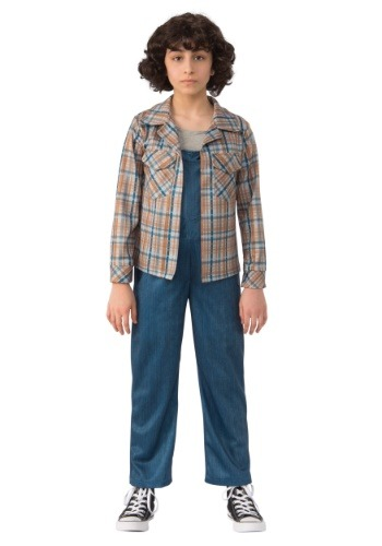 Eleven Child Stranger Things Plaid Shirt