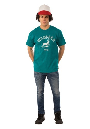 Dustin Adult Stranger Things Waupaca Shirt