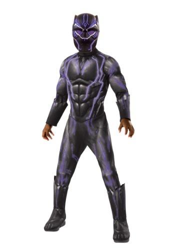 Boys Light Up Black Panther Costume