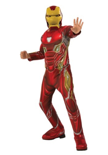 Marvel Infinity War Child Deluxe Iron Man Costume