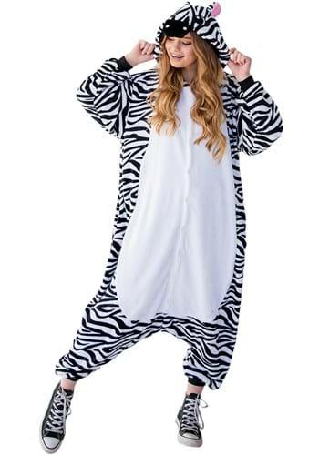 Adult Zebra Yumio Pajama Costume Upd