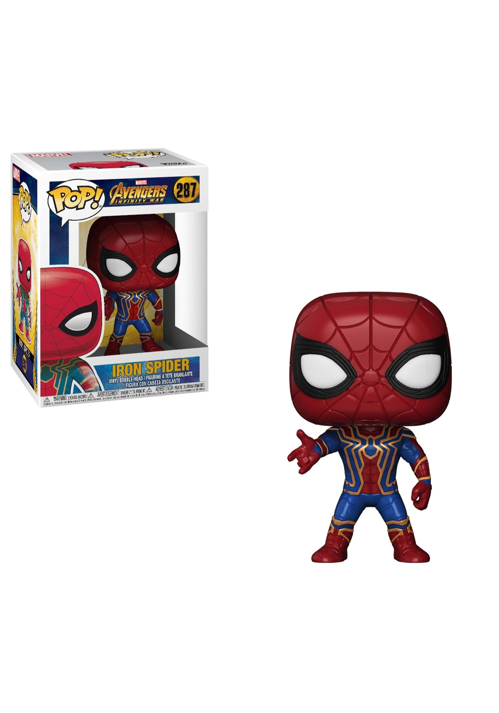ada6b8e2102e8 POP! Marvel  Avengers Infinity War Iron Spider Bobblehead Figure
