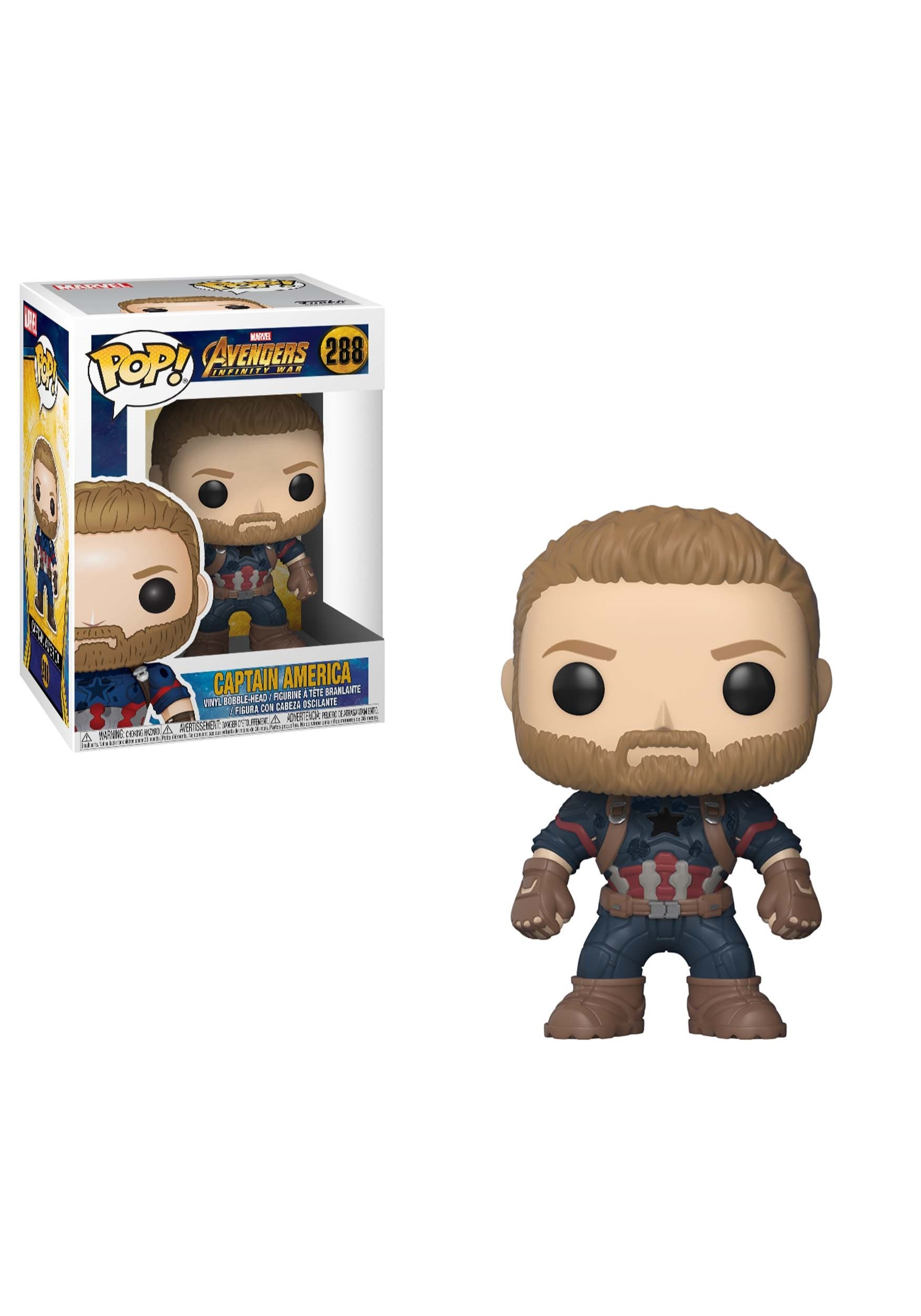POP! Marvel: Avengers Infinity War Captain America Bobblehead Figure FN26466