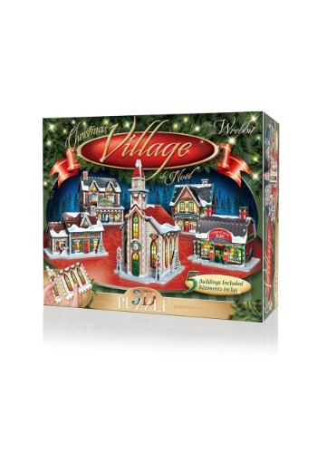 Christmas Village 3D Jigsaw Puzzle- 5 Building Collection