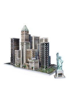 New York Collection - Financial District Wrebbit 3D Puzzle