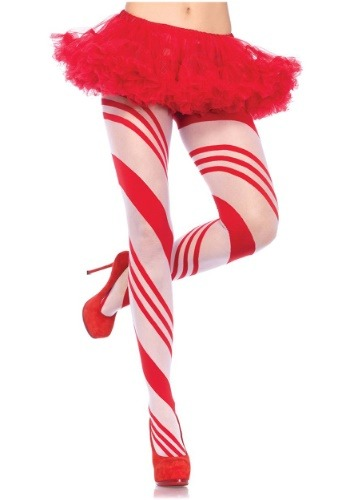 Womens Candy Cane Tights
