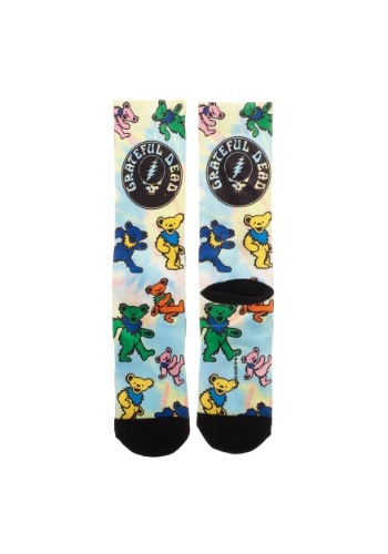 Grateful Dead Bear Sublimated Socks