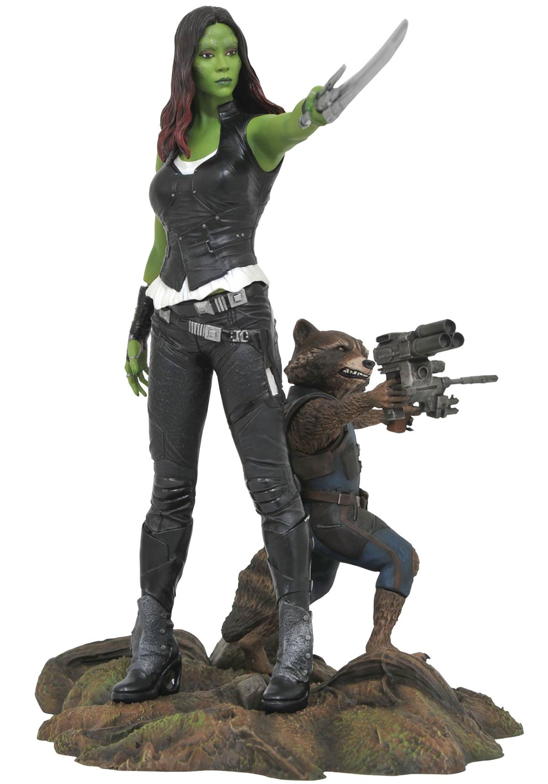 Marvel Gallery Guardians of the Galaxy Gamora & Rocket Raccoon PVC Figure DCMAY172525