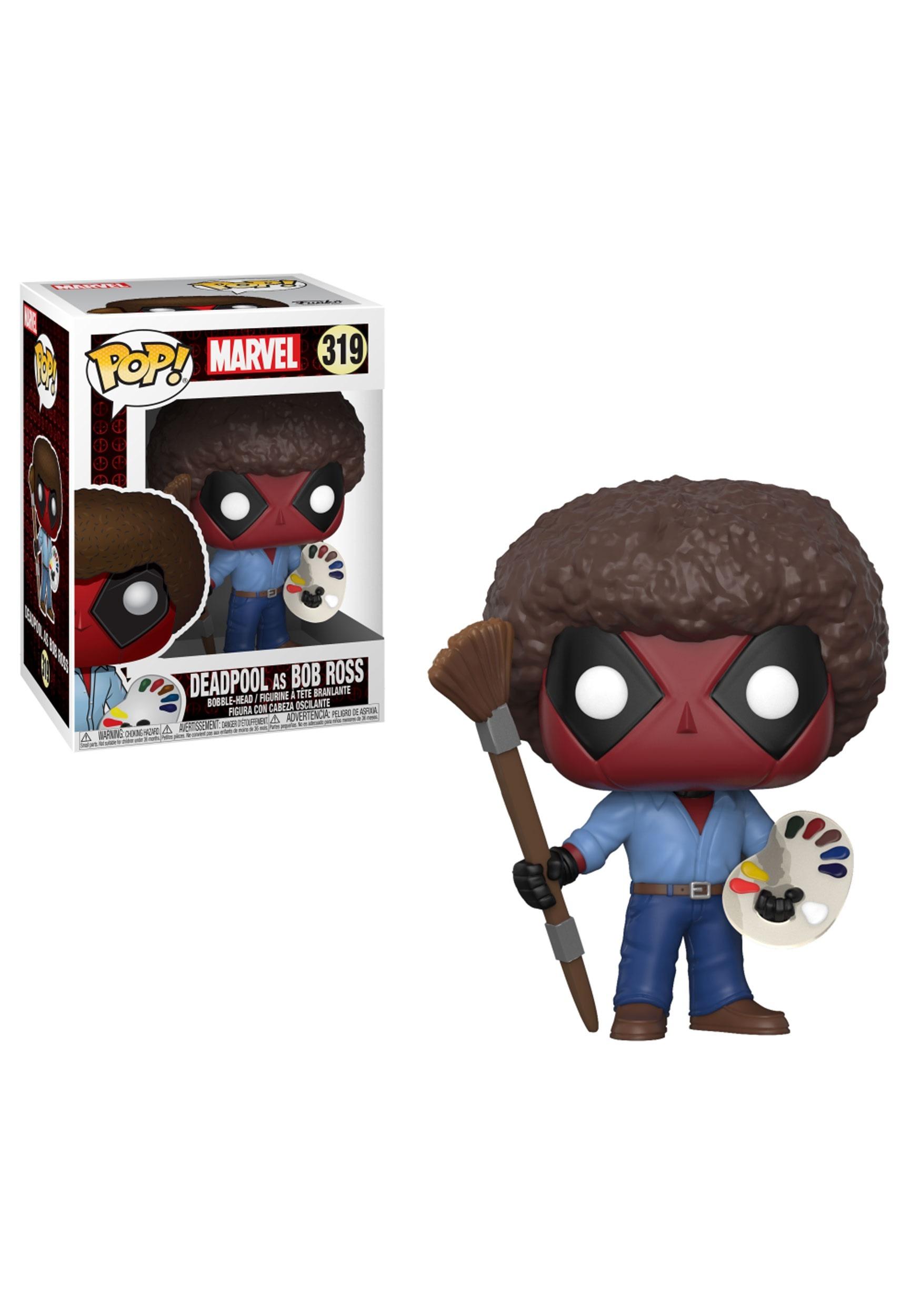 Marvel Deadpool As Bob Ross Pop Bobblehead Figure