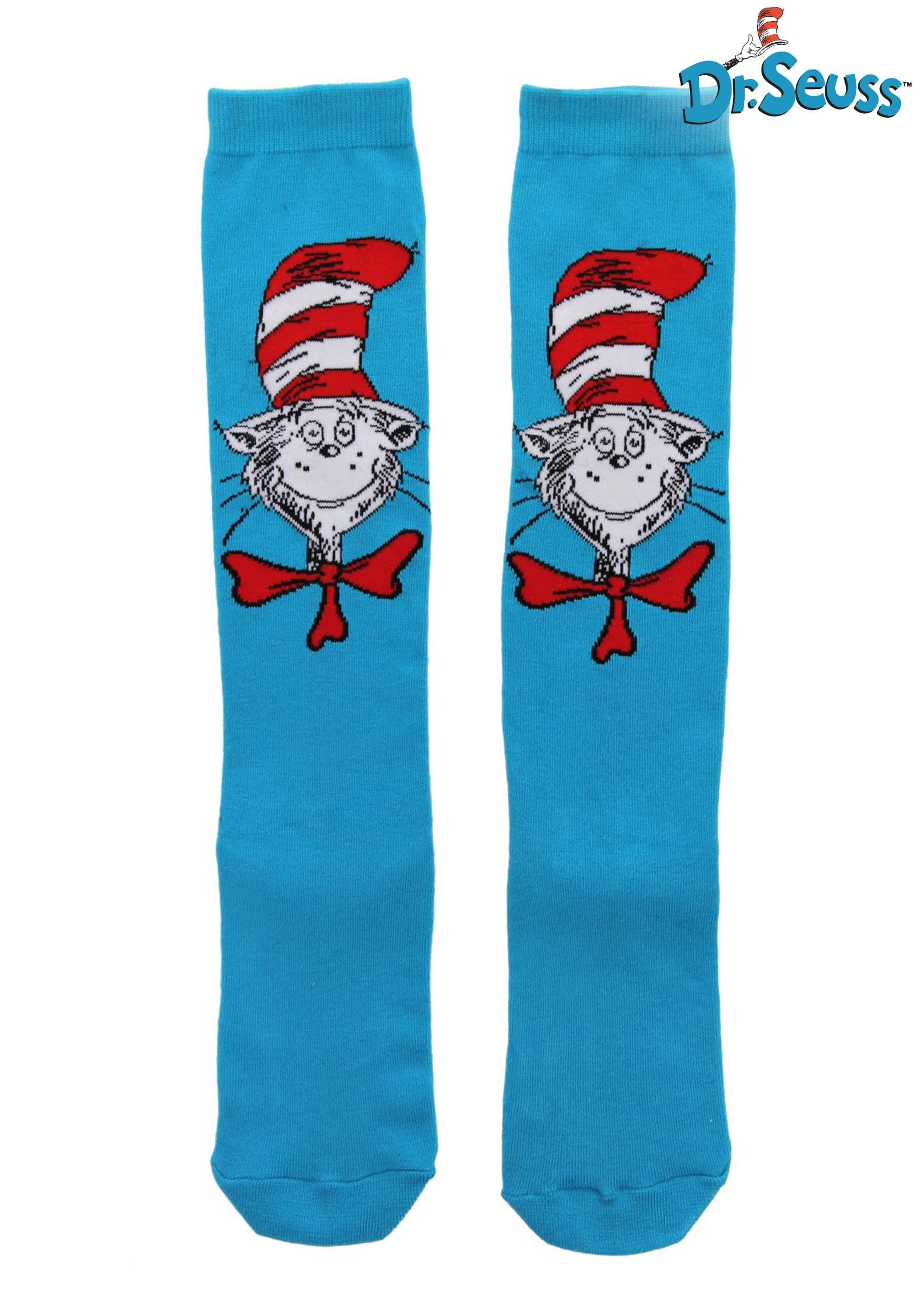 edaba1d8050 Dr. Seuss The Cat in the Hat Knee High Sock For Women