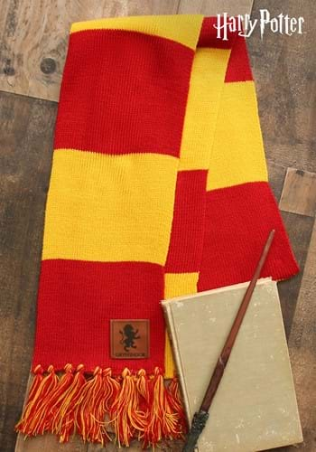 Harry Potter Gryffindor House Patch Striped Scarf update