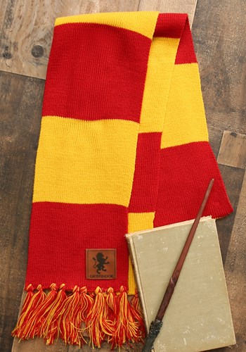Harry Potter Gryffindor House Patch Striped Scarf