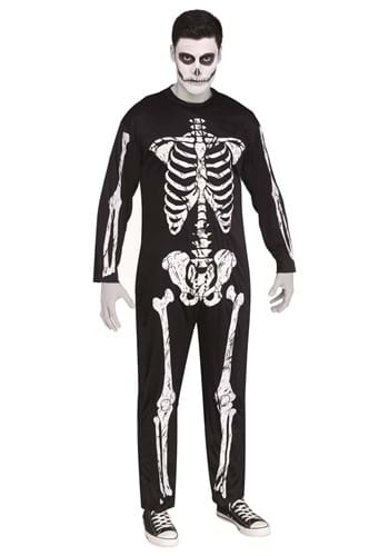 Men's Skeleton Jumpsuit Costume