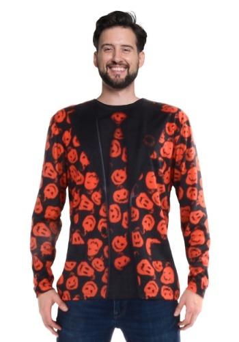 SNL David S Pumpkins Long Sleeve Suit Costume Tee Main