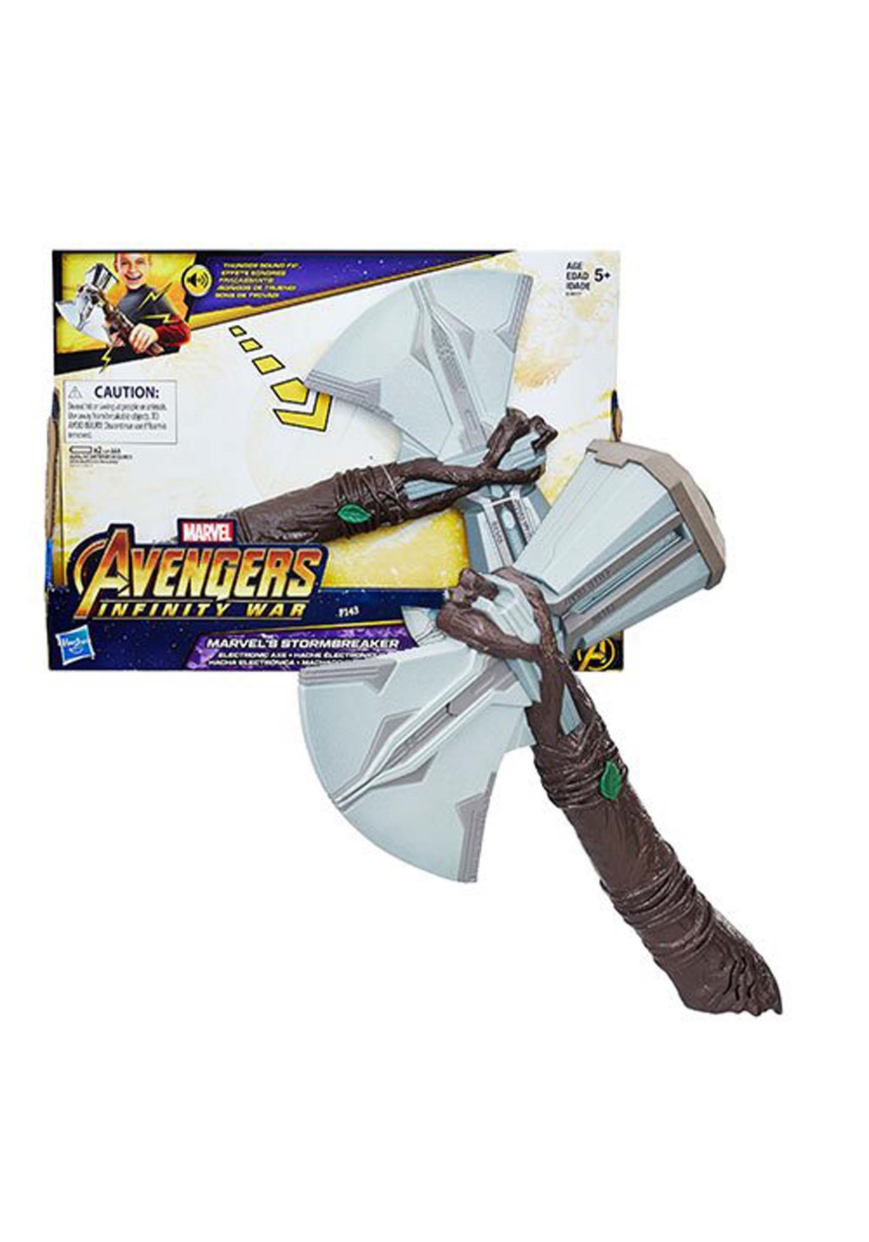 Avengers Infinity War THOR STORMBREAKER Electronic Sound Effects Hammer Axe Toy