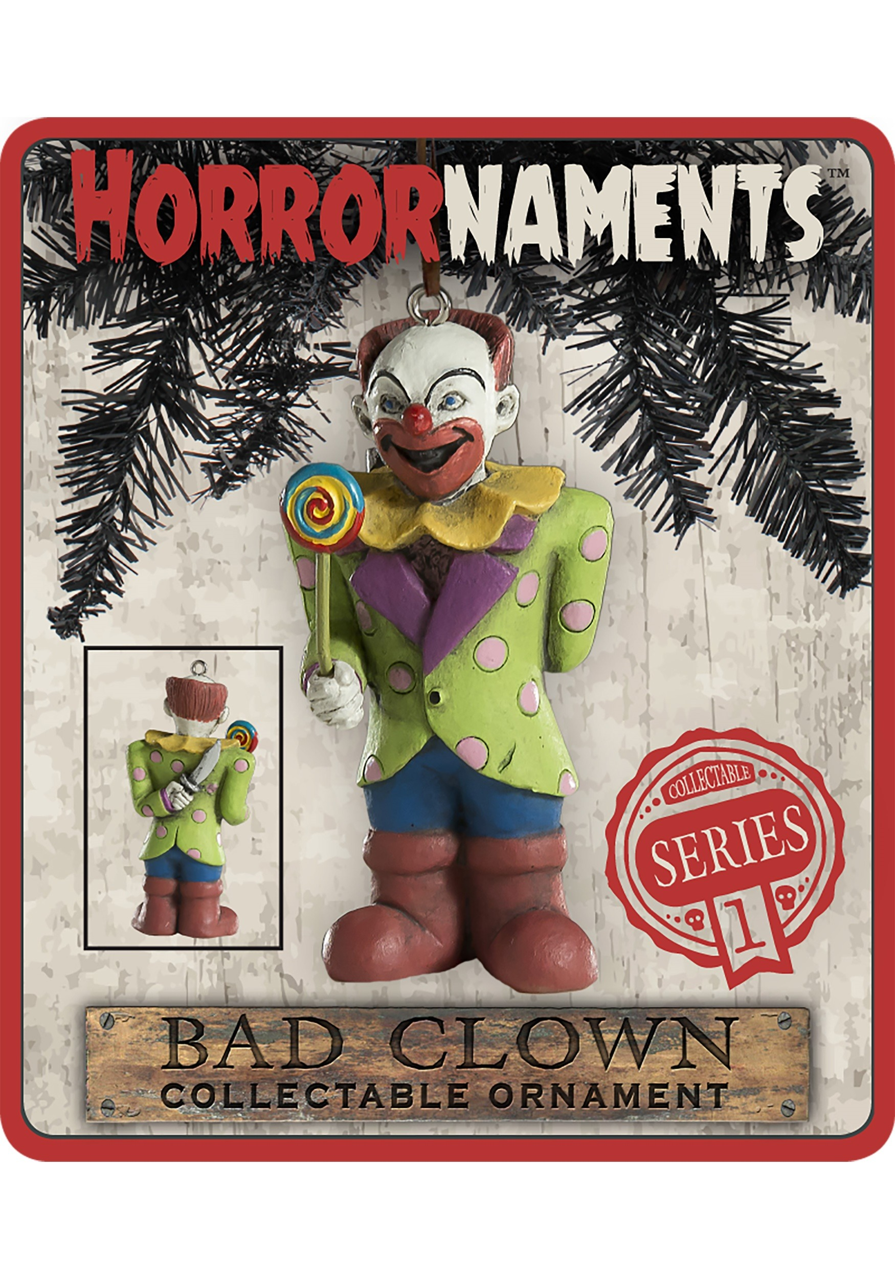 Horrornaments Molded Bad Clown Ornament