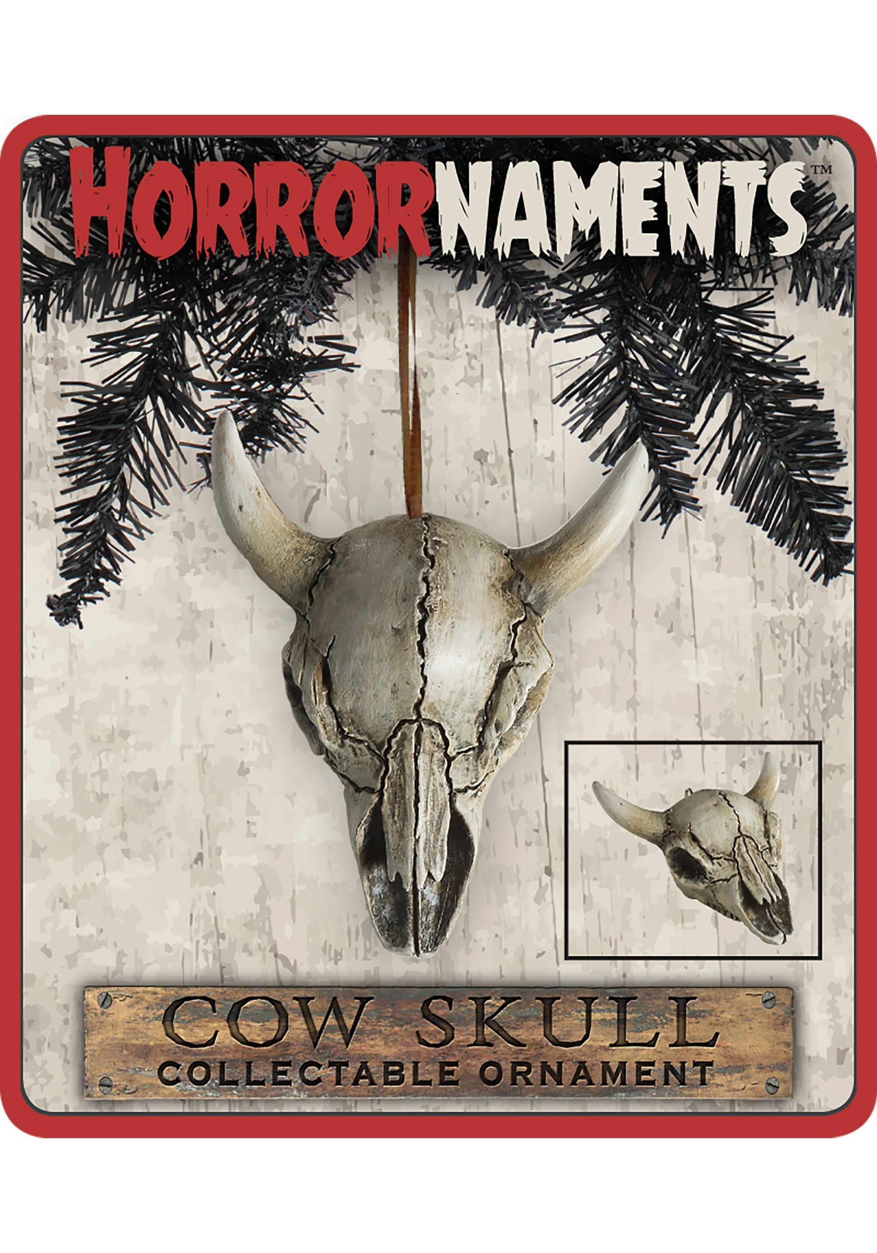 Cow Skull Horrornaments Molded Ornament