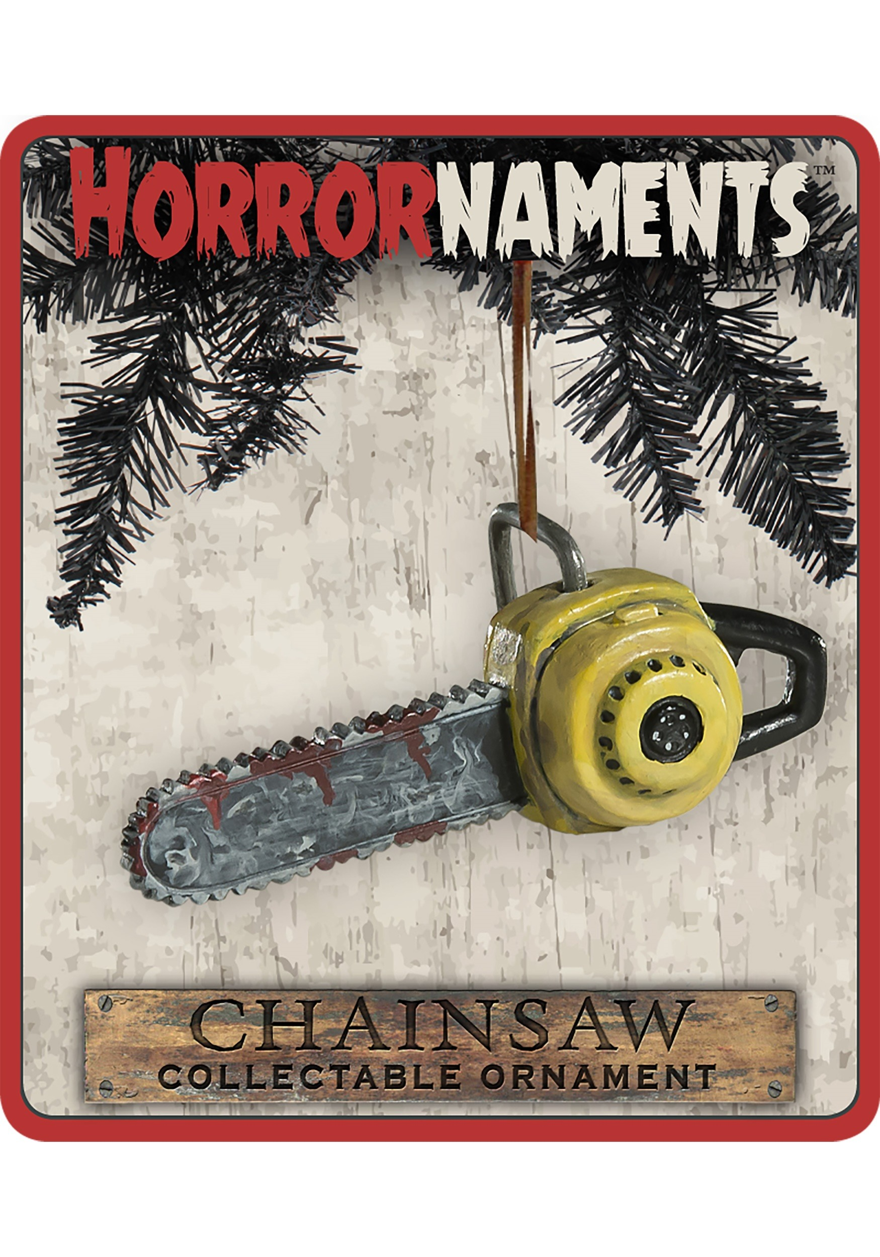 Chainsaw Horrornaments Molded Ornament