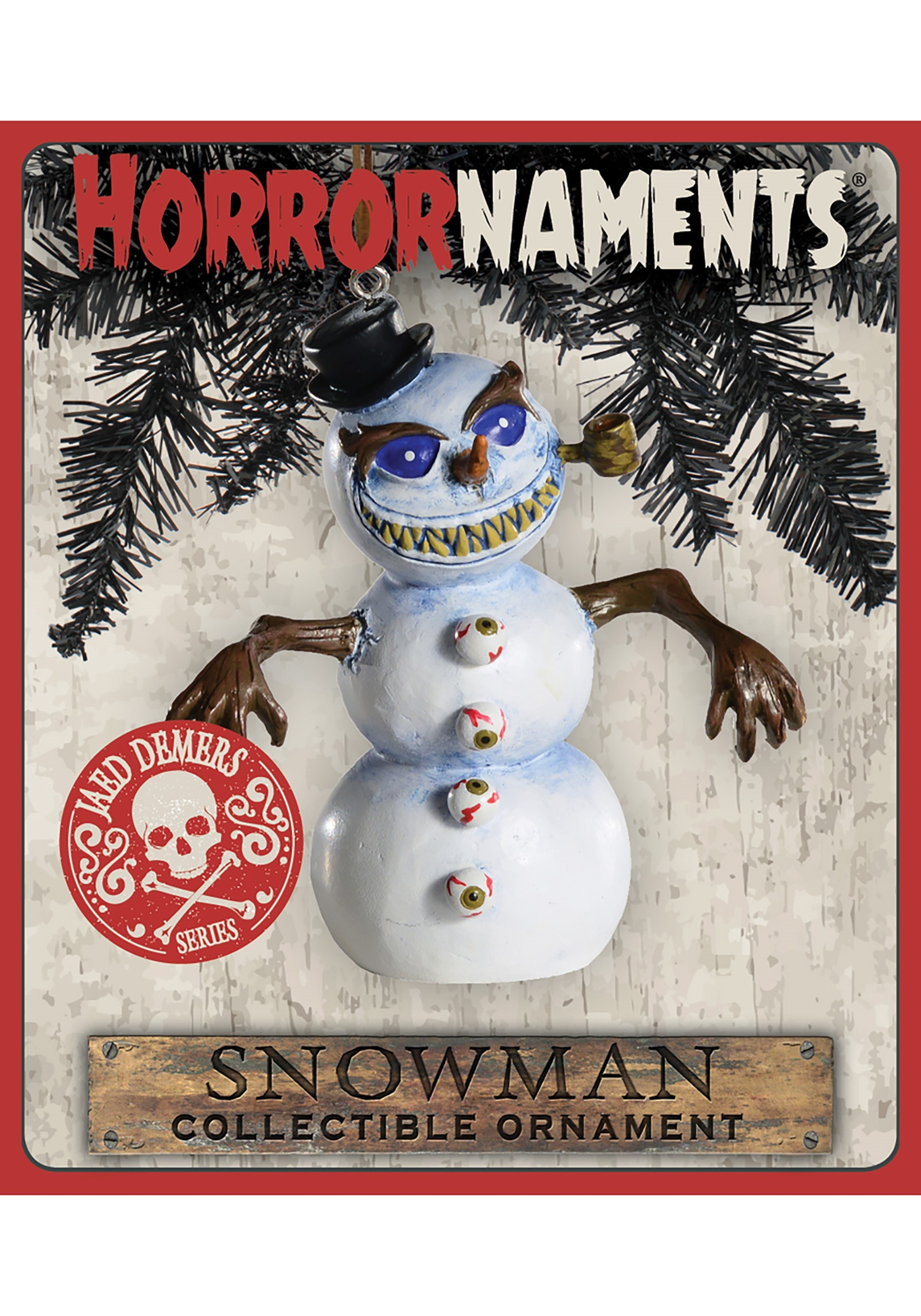 Snowman Horrornaments Molded Ornament
