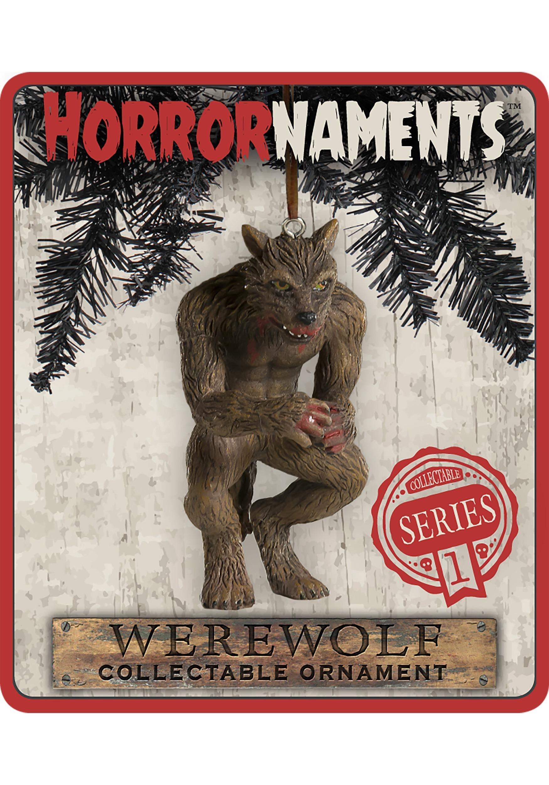 Werewolf Molded Horrornaments Ornament