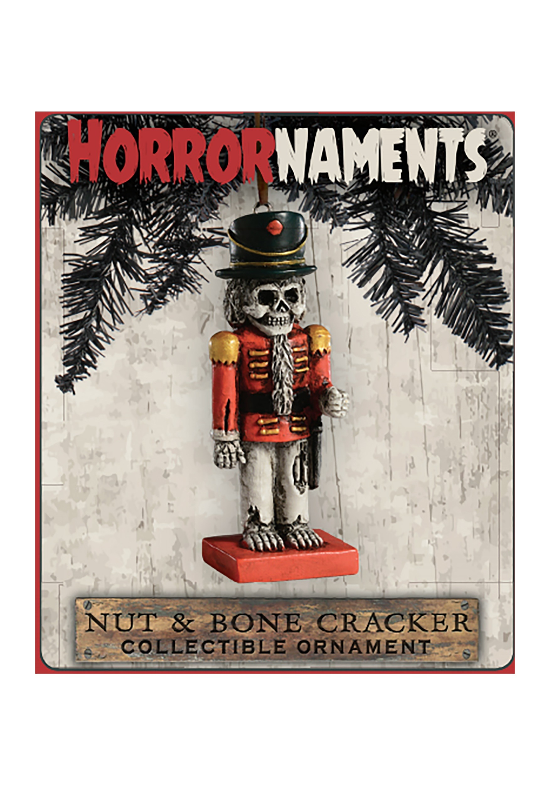 Horrornaments Nut And Bone Cracker Molded Ornament