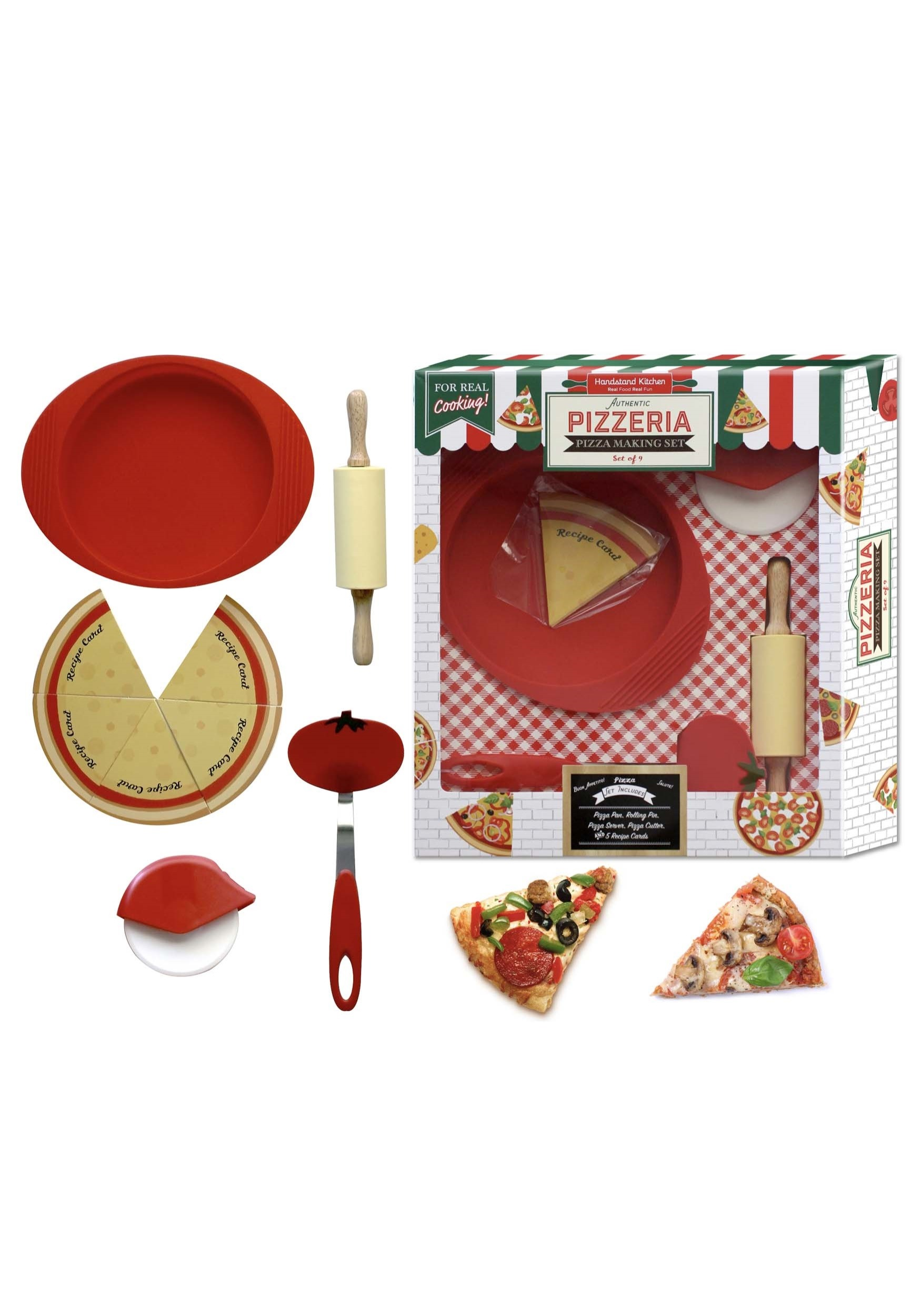9 Piece Pizza Making Set For Kids